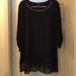 Style & Co. Black on Black Tunic XL